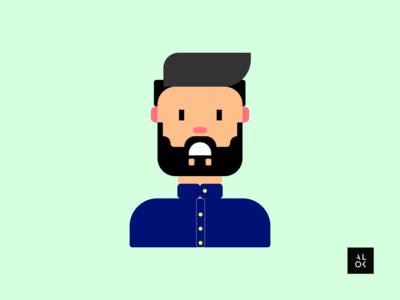 Stressed Man   Character Design Illustration