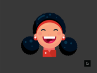 Laughing Girl | Character Design Illustration
