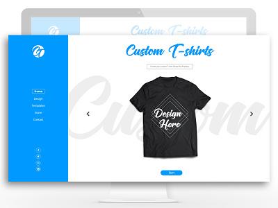 Custom T Shirts web application digital design web designs ux ui