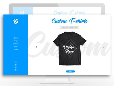Custom T Shirts web application