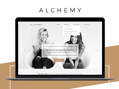 Alchemy single page Website Design digital design web design ui