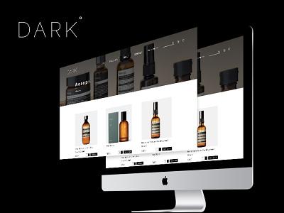 Dark  Ecommerce Website Design website design uiux ecommerce website design digital design