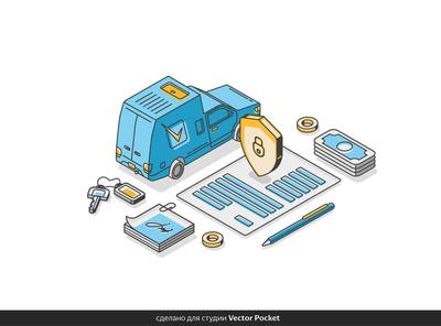insurance illust fineart design vector isometric illustration drawing creative art 2d