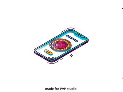 Online casino illust fineart design vector isometric illustration drawing creative art 2d
