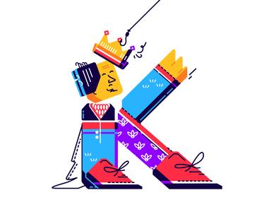 "Letter ""к"" illust fineart design vector isometric illustration drawing creative art 2d"
