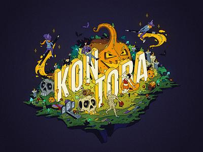 Happy Halloween 🎃 painting illust fineart design vector isometric illustration drawing creative art 2d