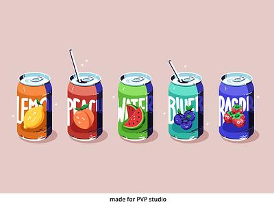 Soda illust fineart design vector logo isometric illustration drawing creative art 2d