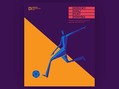 soccer blue minimal slovakia flat logo vector design illustration branding
