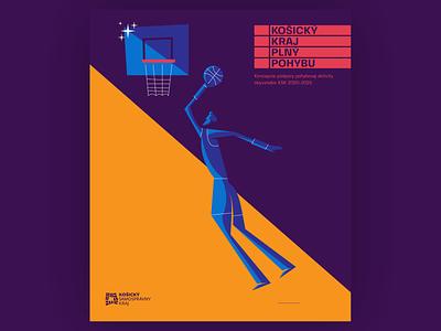 basketball minimal slovakia blue logo flat vector design illustration branding