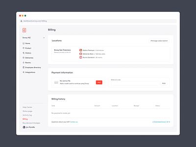 Location-Based Billing saas design saas product design ux app product web ui design