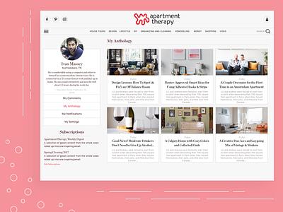 Anthology Concept product design web design ux design