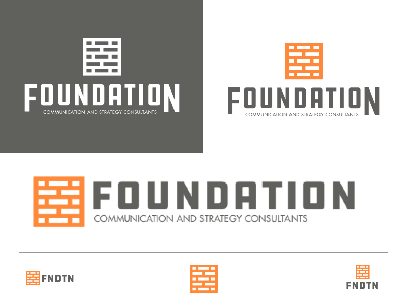 Foundation Logo butt kicking fun text communication brand logo