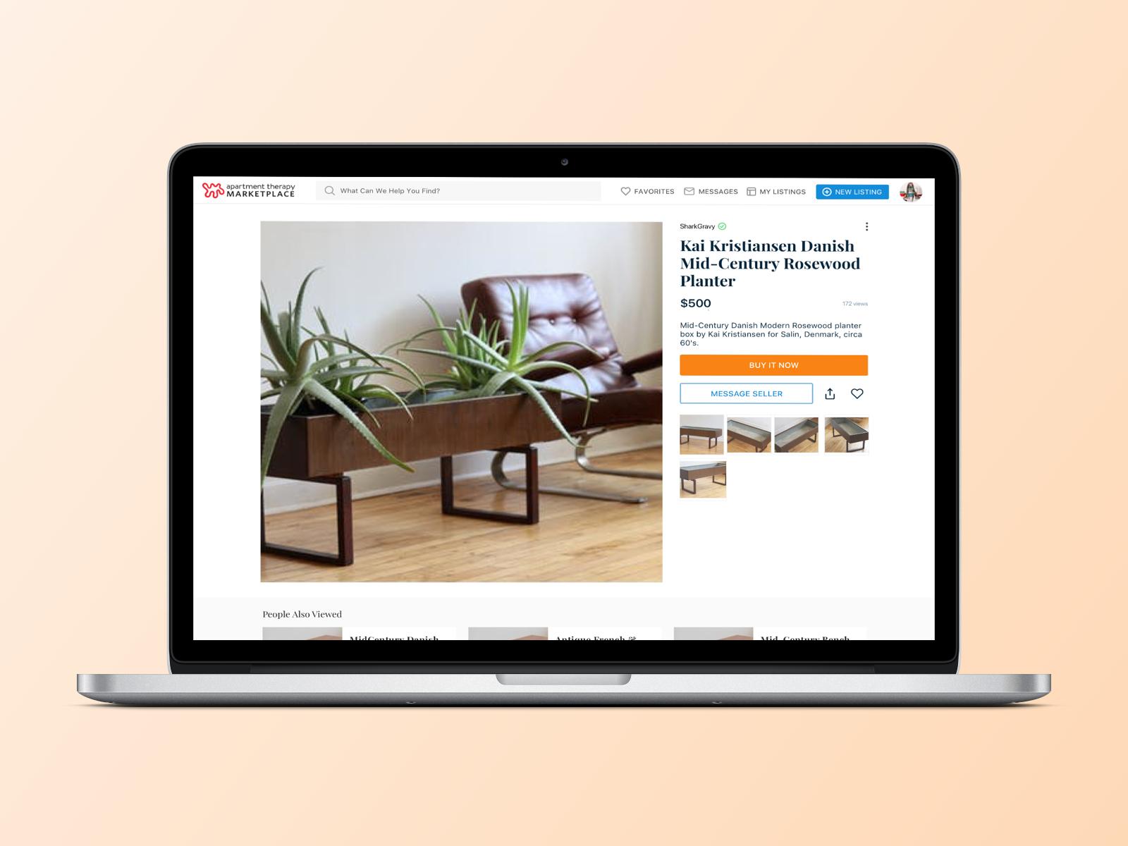 Keaton taylor marketplace listing detail desktop concept