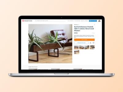 Daily UI #12: Marketplace Listing Detail Desktop Concept