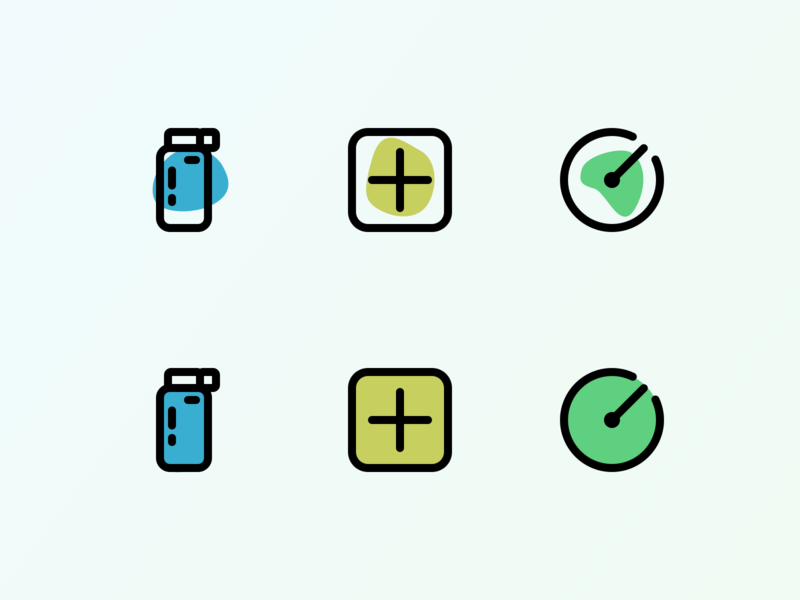 Icons for a thing vector icon illustration ui not code design icons