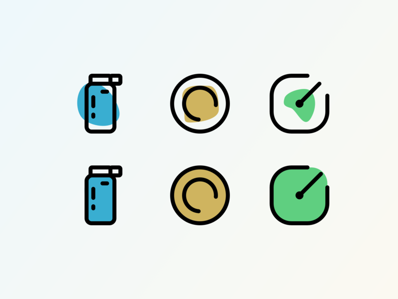 Re-Icons for a thing. vector ios icons ux app illustration icon product ui design