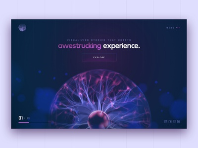 Awestrucking Experience - UI / UX Deisgn ux design cool ui hero slider hero hero section landing page