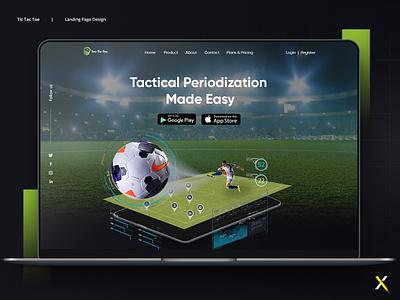 Landing Page Design | Ui / Ux Design app landing page ux design ui design soccer football landing page