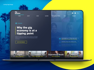 Landing Page Design | Ui / Ux Design magazine design web ui ux design uidesign blog design landing page
