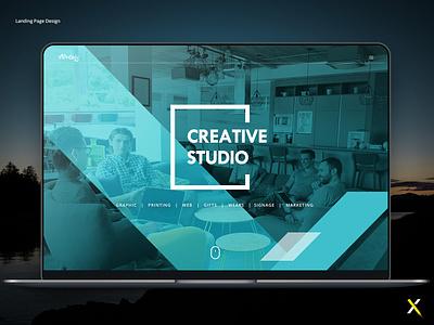Creative Studio Landing Page | Ui/Ux Design creative agency digital agency agency ux design ui design landing page