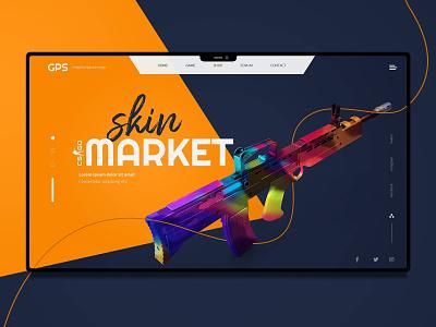 CS:GO Skin Trade Ui / Ux Design gaming csgo design ux ui landing page