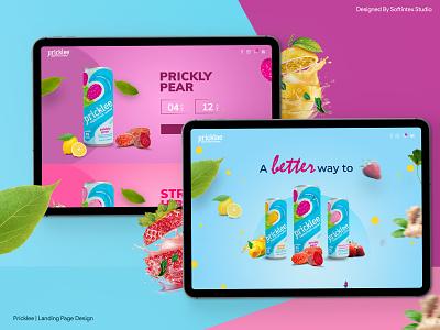 Pricklee | Landing Page & Web Design parallax web design ui  ux design app creative agency uidesign ui design ux design design ux ui landing page