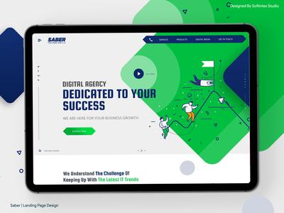 Saber | Landing Page Design | Ui / Ux Design |