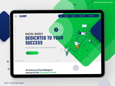 Saber | Landing Page Design | Ui / Ux Design | illustration agency ui  ux design creative agency ui design design ui ux ux design landing page