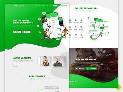 CoachME | Landing Page Design illustration app agency ui  ux design uidesign ui design design ux design ux ui landing page