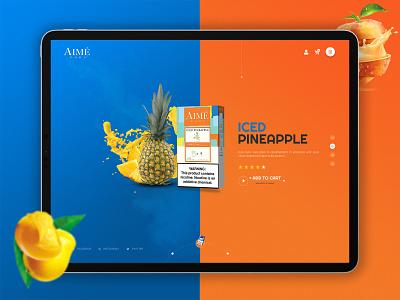 Aimepods | Web Ui / Ux design illustration app ui  ux design uidesign design ui design ux design ux landing page ui