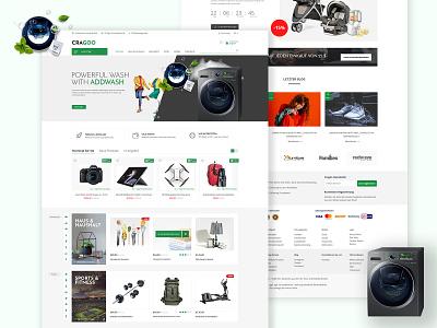 Caragoo | Ecommerce Ui / Ux design & development online store ecommerce design ui design landing page ux design ux ui