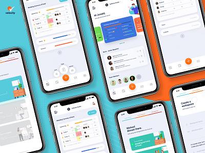 Velocity - Event Management Application task management to-do management event mobile app design android app design ios android ux design ux ui