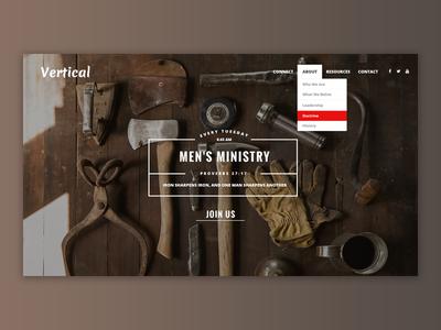 Vertical - Church Website Template
