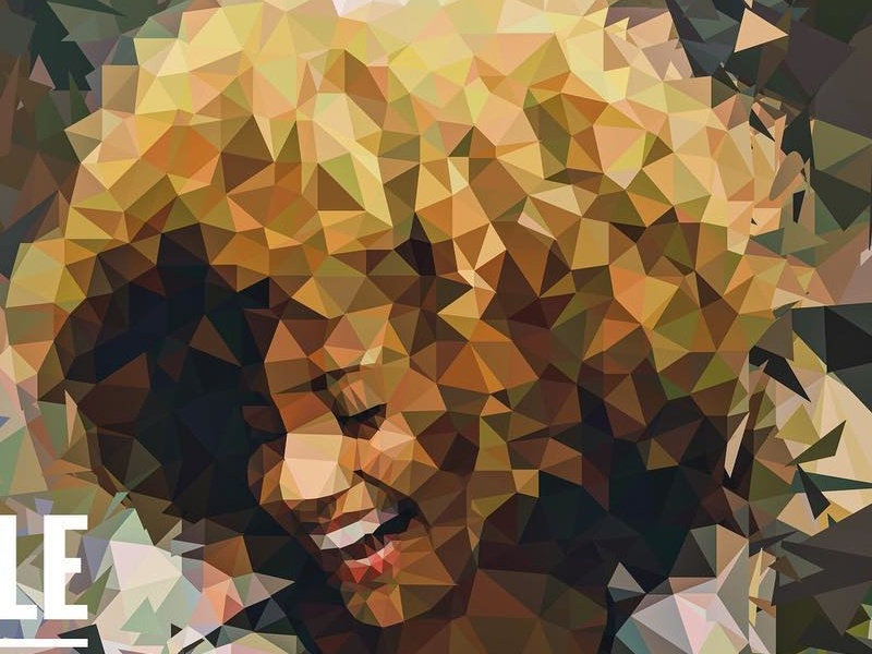 Smile for Life low poly polygon art colorful triangle geometric poly