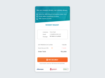 Payment Checkout Page Mobile UI/UX Concept