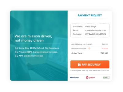 Payment Page Web UI Concept Design