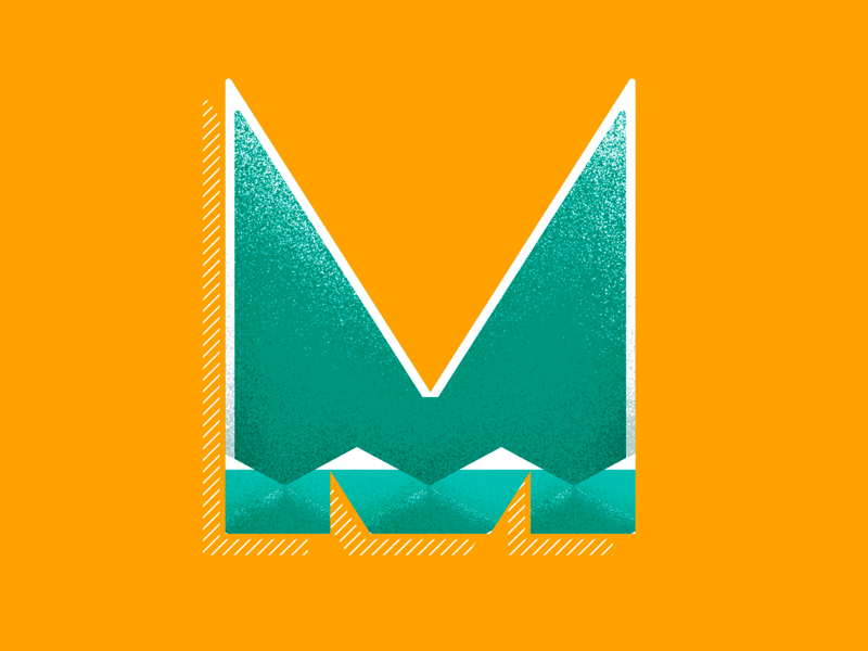 M vector type illustrator lettering 36 days of type type daily type challenge type art photoshop pattern geometric pattern design texture illustration typography 36daysoftype
