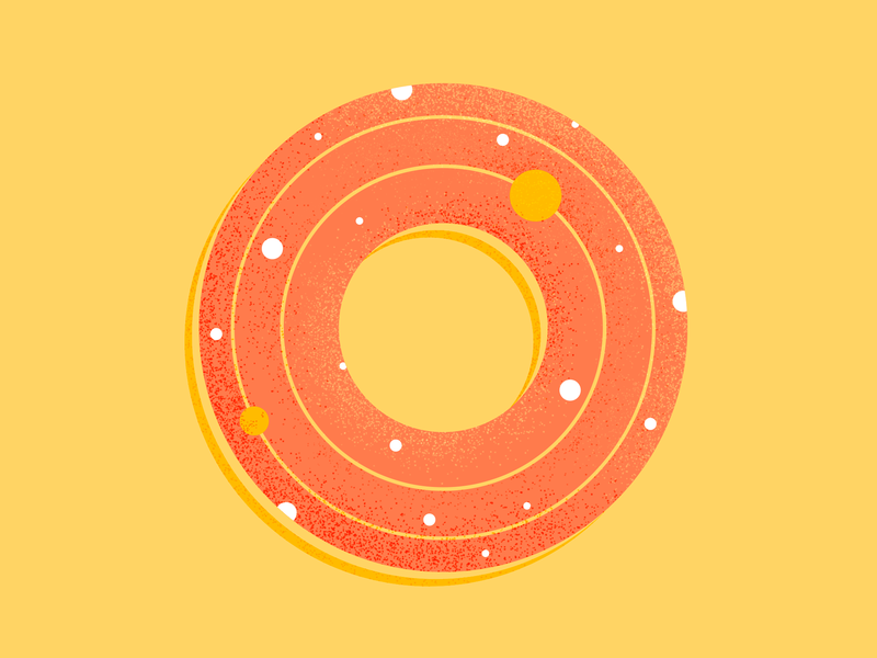 O universe planet orbit o vector type illustrator lettering 36 days of type type daily type challenge type art photoshop pattern geometric pattern design texture illustration typography 36daysoftype