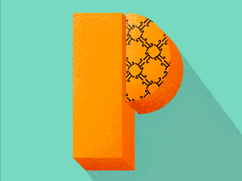 P π vector type illustrator lettering 36 days of type type daily type challenge type art photoshop pattern geometric pattern design texture illustration typography 36daysoftype