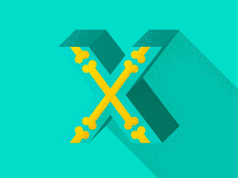 X x xray type illustrator lettering 36 days of type type daily type challenge type art photoshop pattern geometric pattern design texture illustration 36daysoftype typography