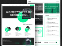 Bold design for one special blog