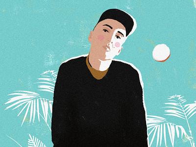 Portratit illustration - Dario design color photoshop adobe digital paiting illustration art drawing friend portrait