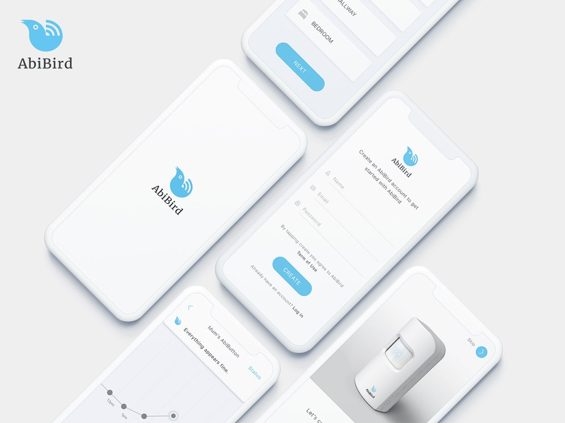 AbiBird technology medical clean minimal ui interface