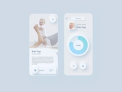 Bubs uxui skeunomorphism concept app ui userinterface
