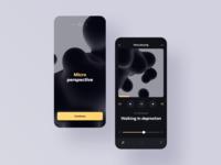 Micro Perspective dailyui apple music interaction design ui interfacedesign