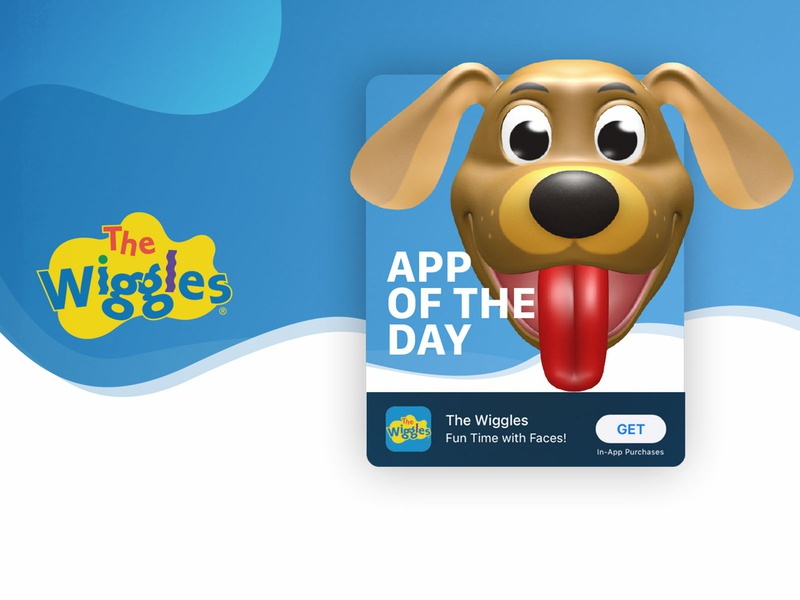 Wiggles Fun Time with Faces app of the day illustration app animation ui design face recognition game children kids ui ux app