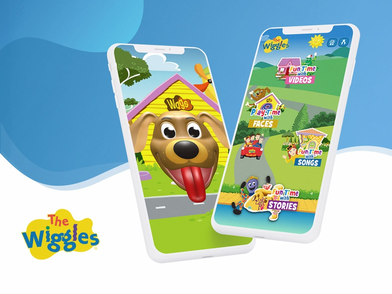 Wiggles Fun Time with Faces illustraion face recognition game children kids ui animation ui design ui ux app