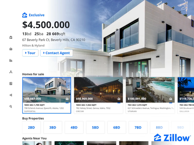 What if Zillow was Netflix branding illustration icon css code ux app animation adobexd ui