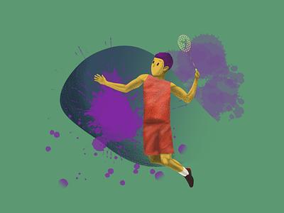 badminton illustration art