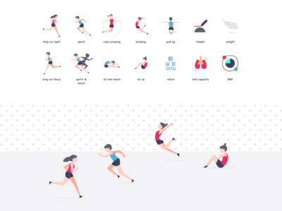 physical test icons